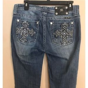 Miss Me Crossing Over Bootcut Jeans 28 x 33